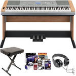 Yamaha DGX-640 Portable Grand Piano Complete Bundle (Cherry)