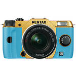 Pentax Q10 Compact Mirrorless Camera with 5-15mm Lens (Gold / Aqua)