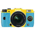 Pentax Q10 Compact Mirrorless Camera with 5-15mm Lens (Yellow / Aqua)