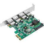 SIIG 4-Port USB 3.0 SuperSpeed PCIe Adapter Card