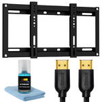 Xtreme Cables 18052 5-Piece Slim HDTV Mounting Kit with HDMI Cables and Cleaner