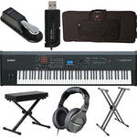 Yamaha S90 XS 88-Key Workstation Keyboard Value Bundle Kit