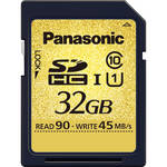 Panasonic 32GB SDHC Memory Card Gold Series Class 10 UHS-1