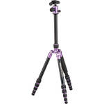 MeFOTO RoadTrip Aluminum Travel Tripod Kit (Purple)