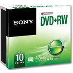 Sony 4.7GB DVD+RW Storage Media Disc (10-Pack)