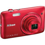 Nikon COOLPIX S3500 Digital Camera (Red)