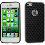 Xuma Patterned Flex Case for iPhone 5, 5s & SE (White Edges / Black Rear)