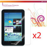 "rooCASE 4-Pack (2 Anti-Glare, 2 HD Clear) Screen Protectors for Samsung Galaxy Tab 2 7"" Tablet"