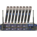 VocoPro UHF-8800-III Professional 8-Channel UHF Wireless Microphone System