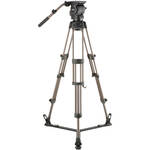 Libec RSP-750 Professional Aluminum Tripod System with Floor-level Spreader for ENG Setups