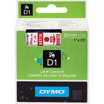 "Dymo Standard D1 Tape (Red on White, 1.0"" x 23')"