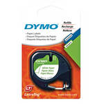"Dymo 2-Pack Paper LetraTag Label Cassette (Black on White, 1/2"" x 13')"