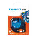 "Dymo Plastic LetraTag Tape (Black on Blue, 1/2"" x 13')"