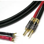 Canare 11 AWG 4S11 Speaker Cable with 2 Banana To 2 Spade Connectors (10')