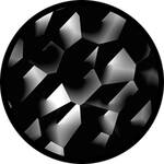 "Rosco Standard Black and White Glass Spectrum Gobo #81123 Cracked (86mm = 3.4"")"