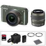 Nikon 1 S1 Mirrorless Digital Camera Basic Accessory Kit with 11-27.5mm and 30-110mm Lenses (Khaki)