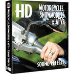 Sound Ideas Motorcycles, Snowmobiles & ATVs HD Sound Effects Hard Drive for Windows