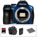Pentax K-30 Digital Camera Body Basic Accessory Kit (Blue)