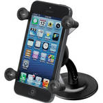 RAM MOUNTS RAM Lil' Buddy Adhesive Stick Base Mount with Universal X-Grip Cell Phone Holder