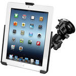 RAM MOUNTS Twist Lock Suction Cup Mount with EZ-ROLL'R Model Specific Cradle for iPad 1/2/3/4