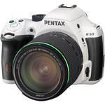 Pentax K-50 DSLR Camera with 18-135mm Lens (White)