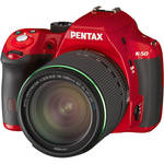 Pentax K-50 DSLR Camera with 18-135mm Lens (Red)