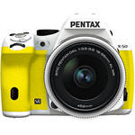 Pentax K-50 Digital SLR Camera with 18-55mm f/3.5-5.6 Lens (White/Yellow)