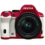 Pentax K-50 Digital SLR Camera with 18-55mm f/3.5-5.6 Lens (Red/White)