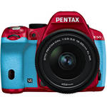 Pentax K-50 Digital SLR Camera with 18-55mm f/3.5-5.6 Lens (Red/Aqua)