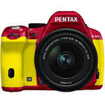 Pentax K-50 Digital SLR Camera with 18-55mm f/3.5-5.6 Lens (Red/Yellow)