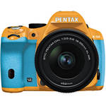 Pentax K-50 Digital SLR Camera with 18-55mm f/3.5-5.6 Lens (Orange/Aqua)