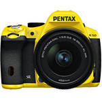 Pentax K-50 Digital SLR Camera with 18-55mm f/3.5-5.6 Lens (Yellow/Black)
