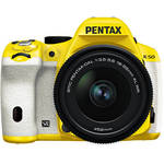 Pentax K-50 Digital SLR Camera with 18-55mm f/3.5-5.6 Lens (Yellow/White)
