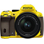 Pentax K-50 Digital SLR Camera with 18-55mm f/3.5-5.6 Lens (Yellow/Brown)