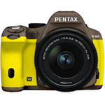 Pentax K-50 Digital SLR Camera with 18-55mm f/3.5-5.6 Lens (Cocoa Brown/Yellow)
