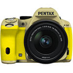 Pentax K-50 Digital SLR Camera with 18-55mm f/3.5-5.6 Lens (Sand Beige/Yellow)