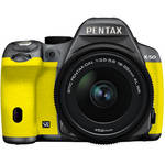 Pentax K-50 DSLR Camera with 18-55mm Lens (Silver/Yellow)