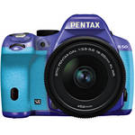 Pentax K-50 Digital SLR Camera with 18-55mm f/3.5-5.6 Lens (Violet/Aqua)