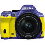 Pentax K-50 Digital SLR Camera with 18-55mm f/3.5-5.6 Lens (Violet/Yellow)