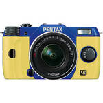 Pentax Q7 Compact Mirrorless Camera with 5-15mm f/2.8-4.5 Zoom Lens (Blue/Yellow)