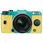 Pentax Q7 Compact Mirrorless Camera with 5-15mm f/2.8-4.5 Zoom Lens (Mint/Yellow)