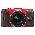 Pentax Q7 Compact Mirrorless Camera with 5-15mm f/2.8-4.5 Zoom Lens (Red/Brown)