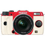 Pentax Q7 Compact Mirrorless Camera with 5-15mm f/2.8-4.5 Zoom Lens (Red/White)