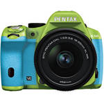 Pentax K-50 Digital SLR Camera with 18-55mm f/3.5-5.6 Lens (Green/Aqua)