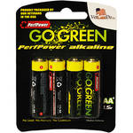 PerfPower GoGreen AA Alkaline Batteries (4-Pack)