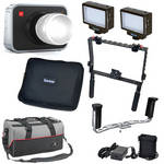 Blackmagic Design Cinema Camera EF Mount Kit with Handgrips & LED Lights
