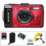 Olympus Tough TG-2 iHS Digital Camera Deluxe Kit (Red)