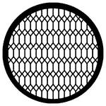 Rosco Steel Gobo #7597 - Diamond Lattice - Size E