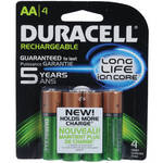 Duracell AA NiMH Pre-Charged Rechargeable Batteries (2400mAh, 4 Pack)