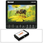 "Marshall Electronics 5"" On-Camera Monitor Kit with SDI to HDMI Converter"